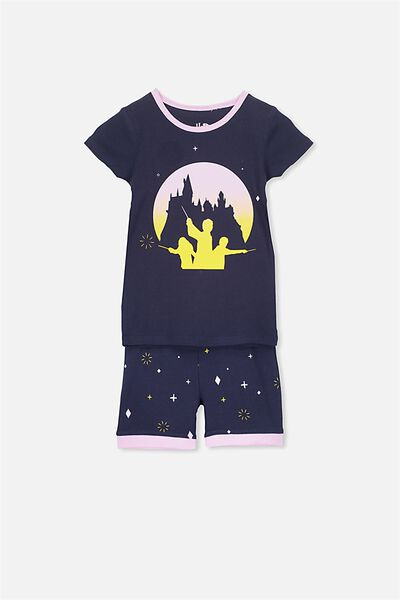 Chloe Girls Short Sleeve PJ Set, LCN HARRY POTTER HOGWARTS MAGIC