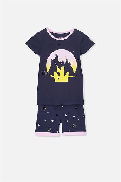 Chloe Girls Short Sleeve PJ Set, LCN HARRY POTTER HOGWARTS MAGIC