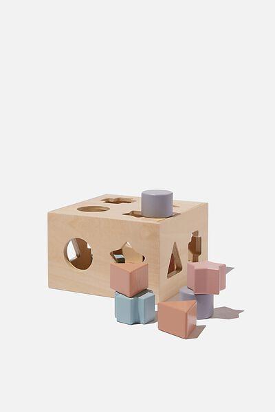 Wooden Puzzle Shape Box, SHAPE BOX