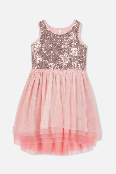 Iris Tulle Dress, DUSTY PINK/DREAM