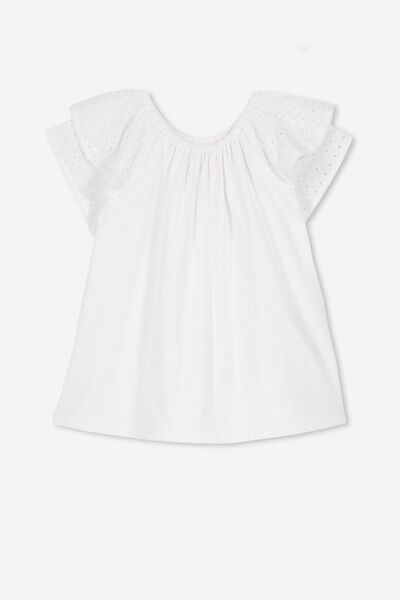 Ria Frill Top, WHITE