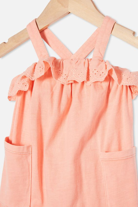 Halle Playsuit, MUSK MELON WASH