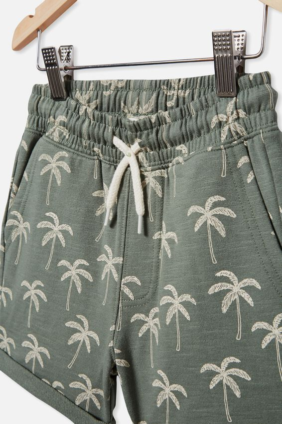 Henry Slouch Short 60/40, SWAG GREEN/PALM TREE