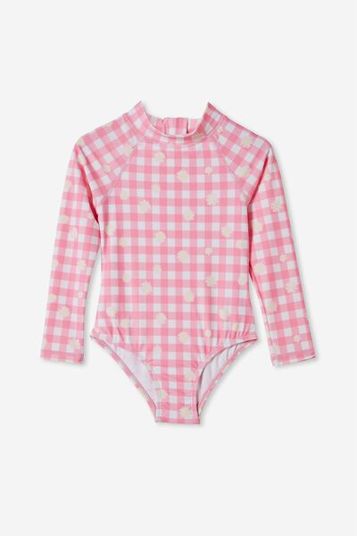 Lydia One Piece, PINK PUNCH/GINGHAM DAISY