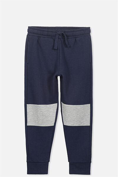 Lewis Trackpant, WASHED NAVY/LT GREY MARLE SPLICE