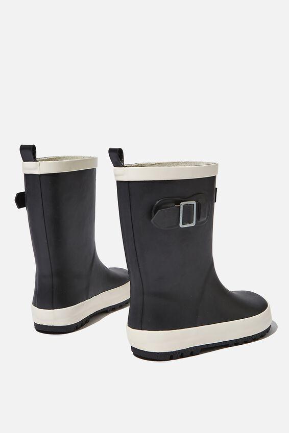 Fashion Golly Gumboots, BLACK/ECRU