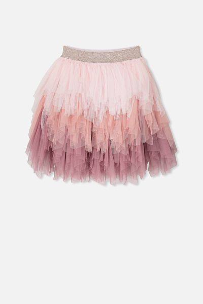 Tori Tulle Skirt, SWEET BLUSH GRADIENT