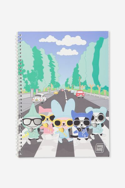 A4 Flip It Notebook, SIGHTSEEING ROCK