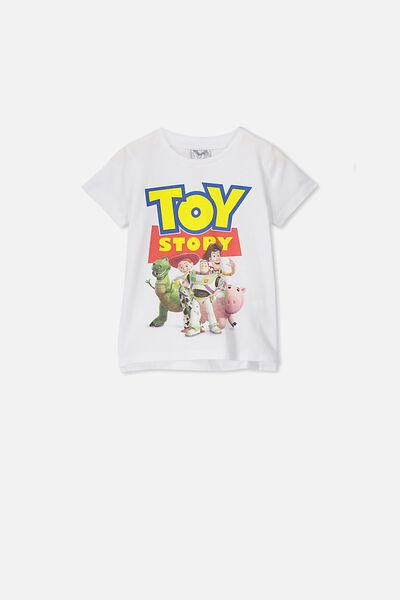 Short Sleeve License1 Tee, LCN DIS TOY STORY/WHITE