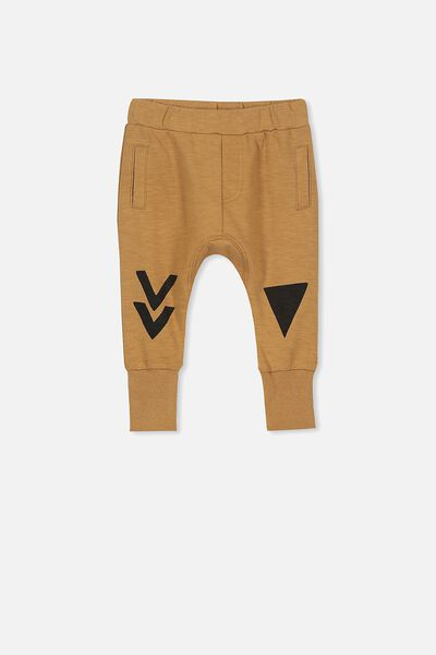 Shelby Slouch Trackpant, BURNT BISCUIT/ARROW