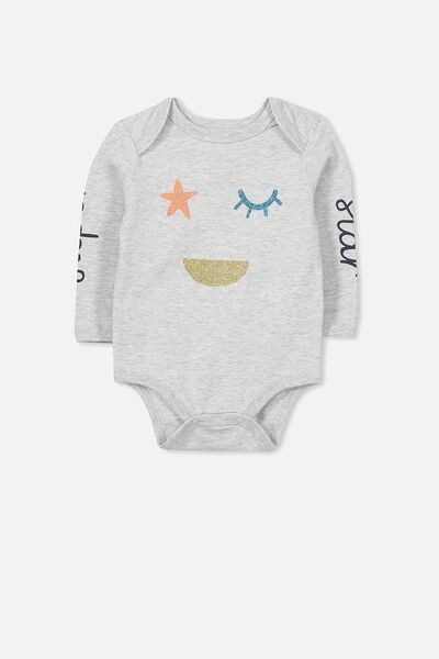 Mini Long Sleeve Bubby, CLOUD MARLE/SUPER STAR