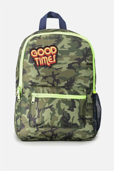 School Backpack, CAMO PATCHES