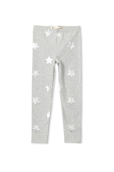 Huggie Tights, LT GREY MARLE/BIG STARS
