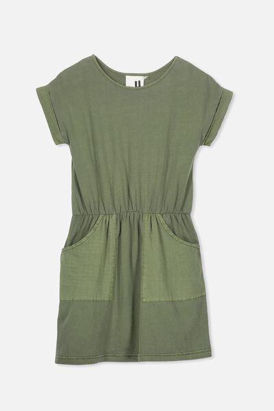 Sibella Short Sleeve Dress, FOUR LEAF CLOVER