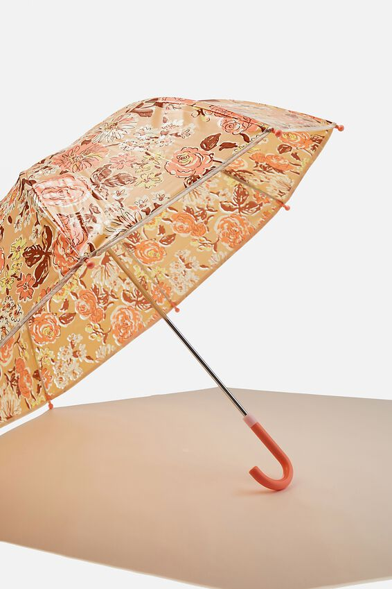 Kids Cloudburst Umbrella, MARSHMALLOW FADED FLORAL