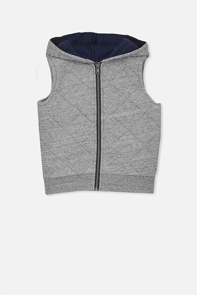 Tyson Quilted Vest, GREY NEP2