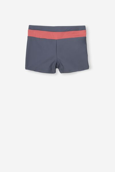 Billy Boyleg Swim Trunk, VINTAGE NAVY/SPLICE RETRO RED
