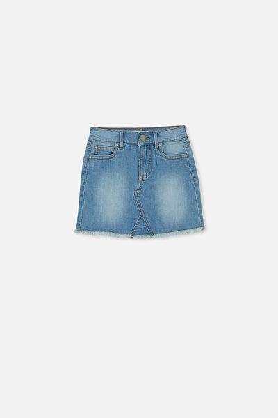 Finn Denim Skirt, BLEACH WASH