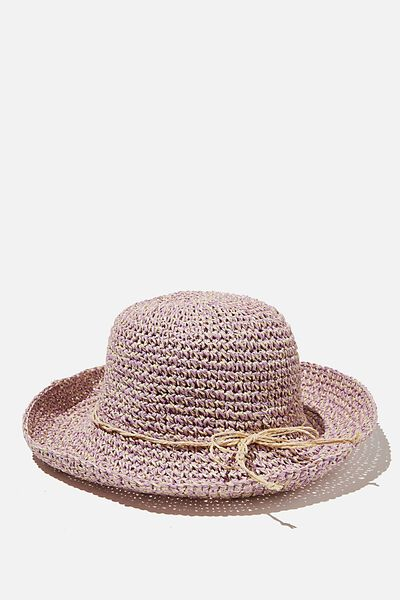 Floppy Hat, NATURAL PURPLE