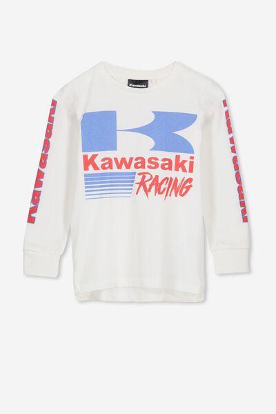 Licence Long Sleeve Tee, LCN VANILLA/KAWASAKI