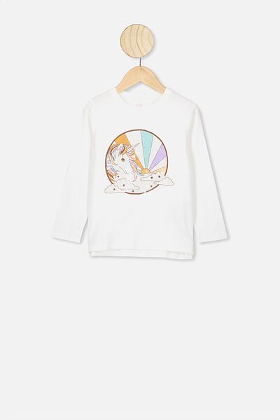 Stevie Ls Embellished Tee, VANILLA/SEVENTIES UNICORN