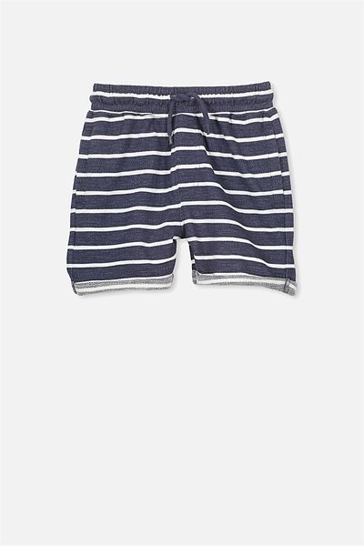 Henry Slouch Short, WASHED NAVY/VANILLA STRIPE