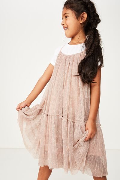 Iggy Dress Up Dress, BISCUIT/SILVER