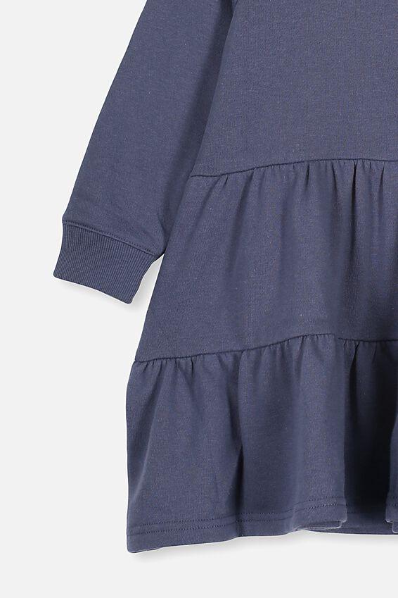 Angie Long Sleeve Dress, VINTAGE NAVY