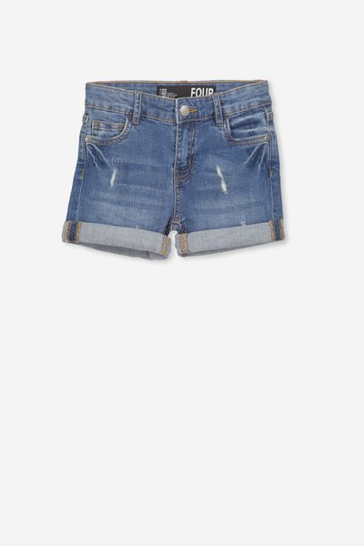 Camilla Denim Short, MID WASH