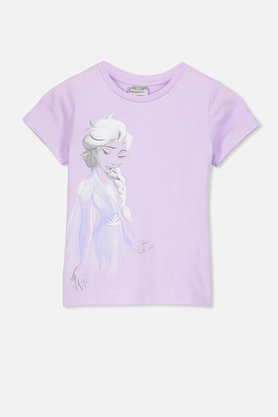 Lux Short Sleeve Tee, LCN DIS BABY LILAC/FROZEN ELSA/MAX