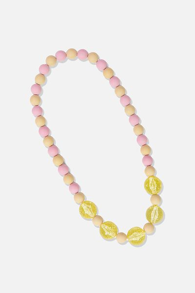 Mixed Beaded Necklace, GLITTER ZEPHYR