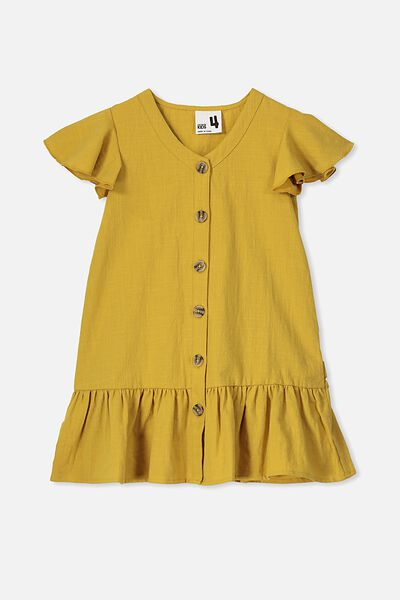 Lola Short Sleeve Dress, HONEY GOLD