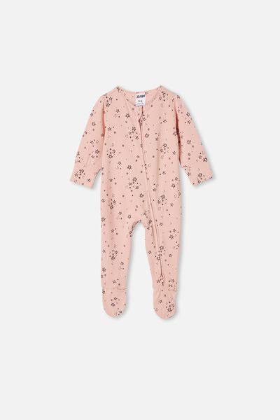 The Long Sleeve Zip Romper, ZEPHYR/GALAXY STARS