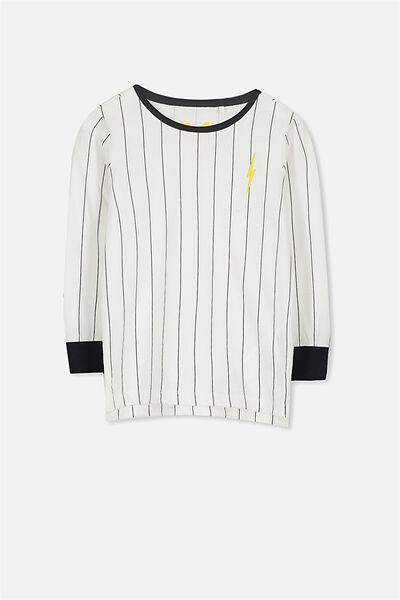 Tom Long Sleeve Tee, STRIPE BOLT/SIS CUFF
