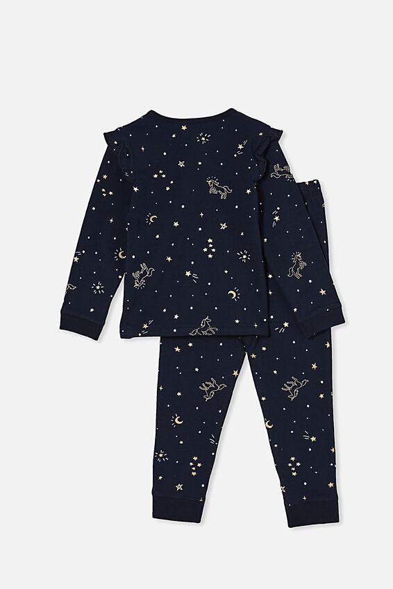 Florence Long Sleeve Pyjama Set, MAGIC NIGHT/NAVY BLAZER