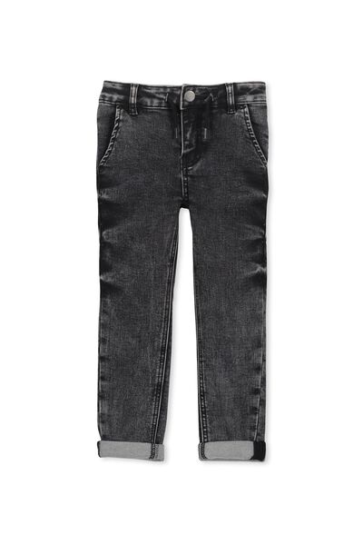 Jake Loop Back Jean, BLACK MARBLE