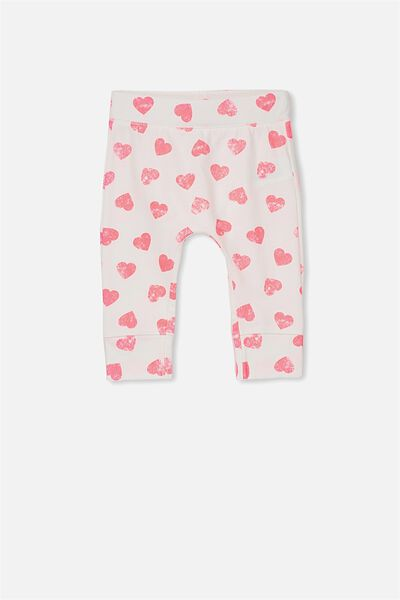 Mini Legging, VANILLA/HEARTS