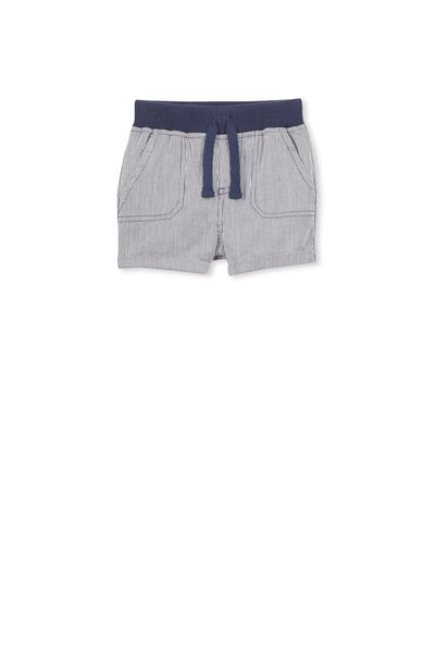 Archie Short, NAVY/VANILLA STRIPE