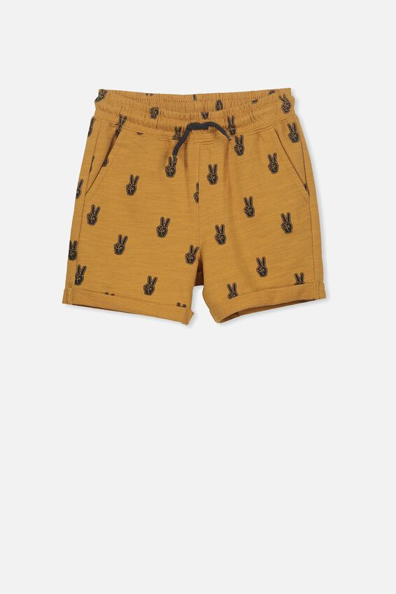 Henry Slouch Short, BURNT BISCUIT/PEACE HANDS