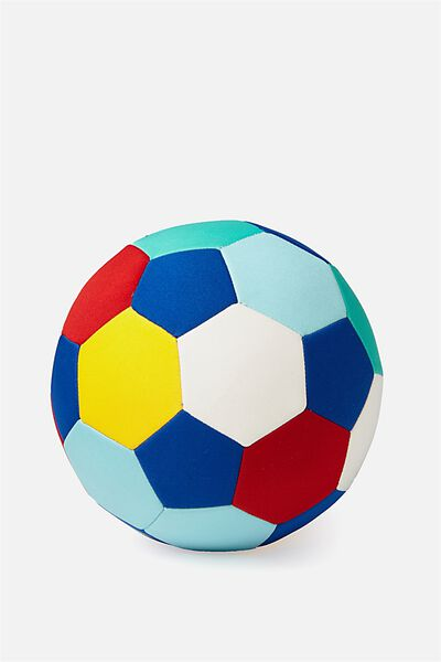 Kids Beach Soccer Ball, BLUE/RED