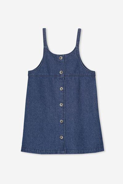 Willa Dress, MID BLUE DENIM
