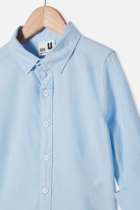 Harper Long Sleeve Shirt, FROSTY BLUE