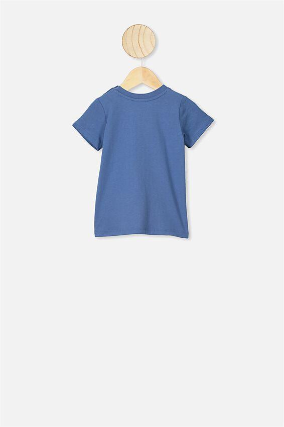 Jamie Short Sleeve Tee, LCN LN PETTY BLUE WUTANG