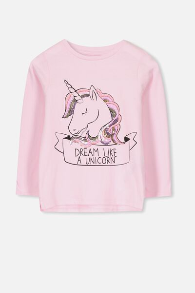 Anna Ls Tee, PINK LADY/DREAM UNICORN