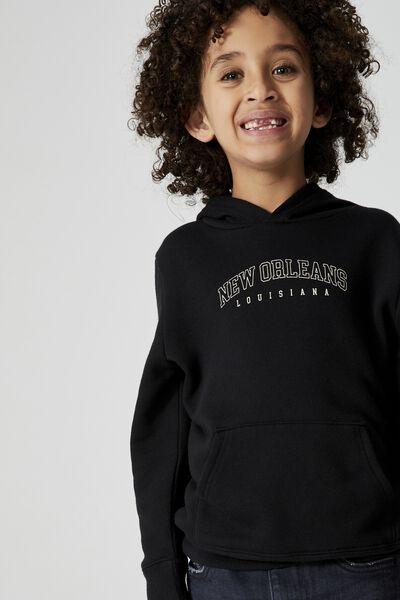 Milo Hoodie, BLACK/NEW ORLEANS