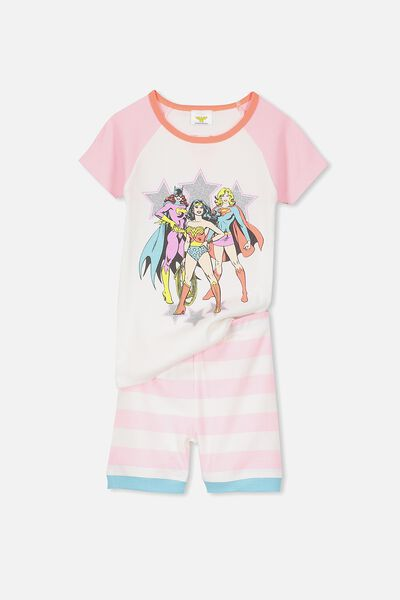 Lexi Girls Short Sleeve PJ Set, GIRLS RULE THE WORLD