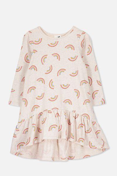 Joss Long Sleeve Dress, BLUSH MARLE/RAINBOWS