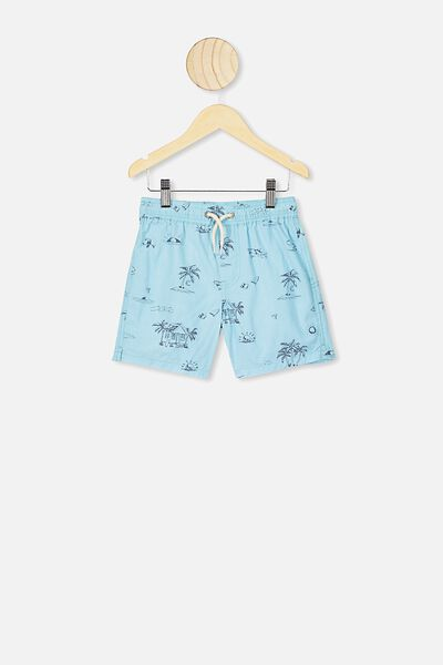 Volly Short, DREAM BLUE/SHARK PALM