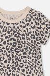 The Short Sleeve Bubbysuit, CARAMEL MARLE/SUMMER OCELOT