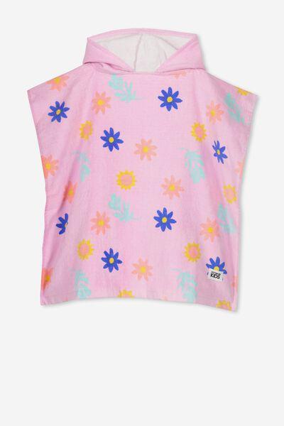 Kids Hooded Towel, LAVENDER FLORAL